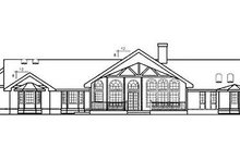 Home Plan Design - Ranch Exterior - Rear Elevation Plan #60-221