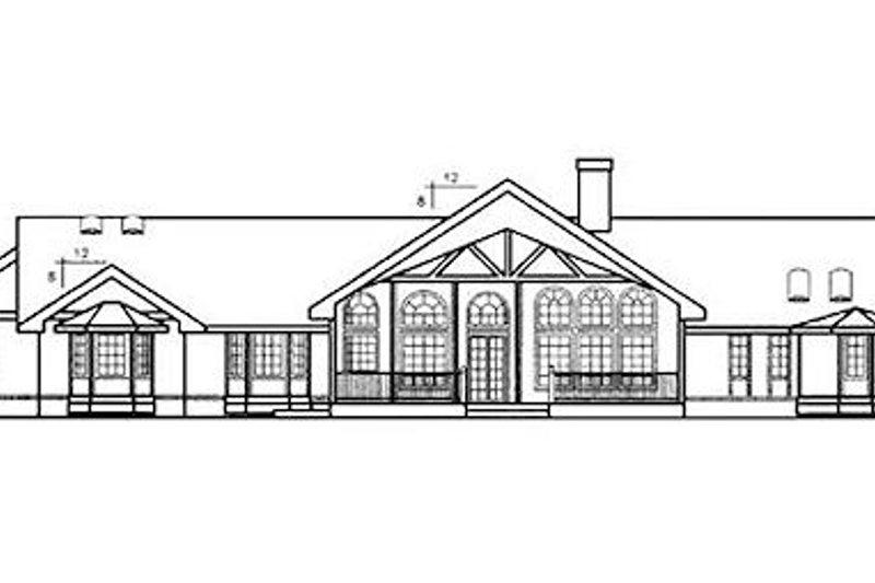 Ranch Exterior - Rear Elevation Plan #60-221 - Houseplans.com