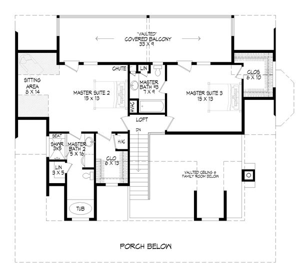 Dream House Plan - Country Floor Plan - Upper Floor Plan #932-349