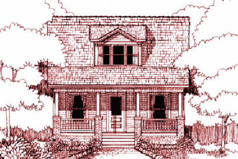Cottage Exterior - Front Elevation Plan #79-141 - Houseplans.com