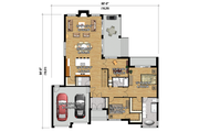Contemporary Style House Plan - 2 Beds 2 Baths 2080 Sq/Ft Plan #25-4459