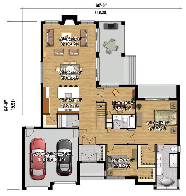 Contemporary Floor Plan - Main Floor Plan #25-4459