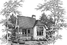 House Plan Design - Cottage Exterior - Front Elevation Plan #41-103