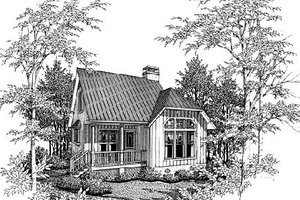 Cottage Exterior - Front Elevation Plan #41-103