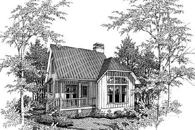 Cottage Style House Plan - 2 Beds 1 Baths 828 Sq/Ft Plan #41-103