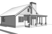 Cabin Style House Plan - 2 Beds 1 Baths 824 Sq/Ft Plan #895-91 Exterior - Other Elevation