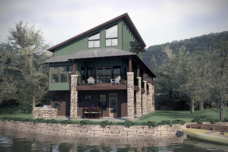 Modern Exterior - Rear Elevation Plan #472-3 - Houseplans.com