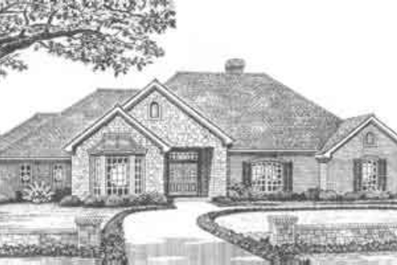 Traditional Style House Plan - 3 Beds 2.5 Baths 2362 Sq/Ft Plan #310-361 Exterior - Front Elevation