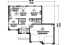 Contemporary Floor Plan - Main Floor Plan Plan #25-4282