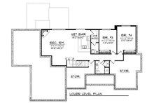 European Floor Plan - Lower Floor Plan Plan #70-874