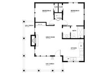 Cabin Floor Plan - Main Floor Plan Plan #895-91