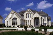 Traditional Style House Plan - 4 Beds 3.5 Baths 3283 Sq/Ft Plan #20-1107 Exterior - Front Elevation