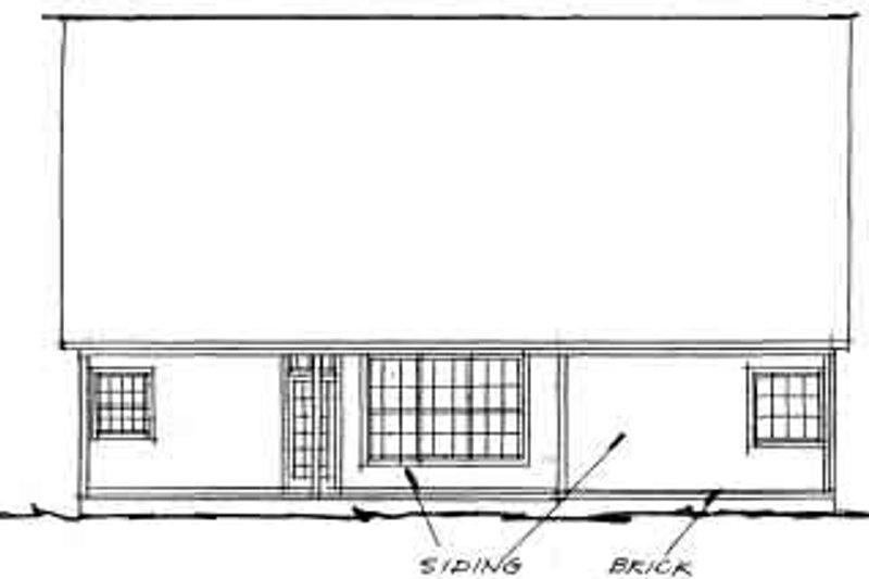 Traditional Exterior - Rear Elevation Plan #20-360 - Houseplans.com