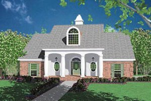 Southern Exterior - Front Elevation Plan #36-175