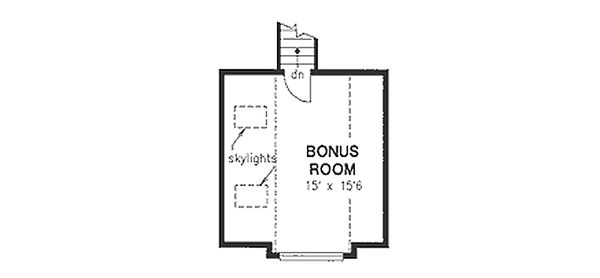 Traditional Floor Plan - Upper Floor Plan Plan #18-1003