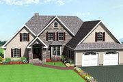 European Style House Plan - 3 Beds 2.5 Baths 1890 Sq/Ft Plan #75-192 Exterior - Front Elevation