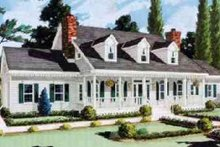 Dream House Plan - Farmhouse Exterior - Front Elevation Plan #3-218