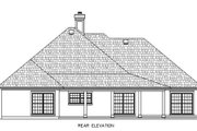 Traditional Style House Plan - 4 Beds 2 Baths 1707 Sq/Ft Plan #45-355 Exterior - Rear Elevation