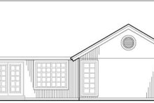 Craftsman Exterior - Rear Elevation Plan #48-189