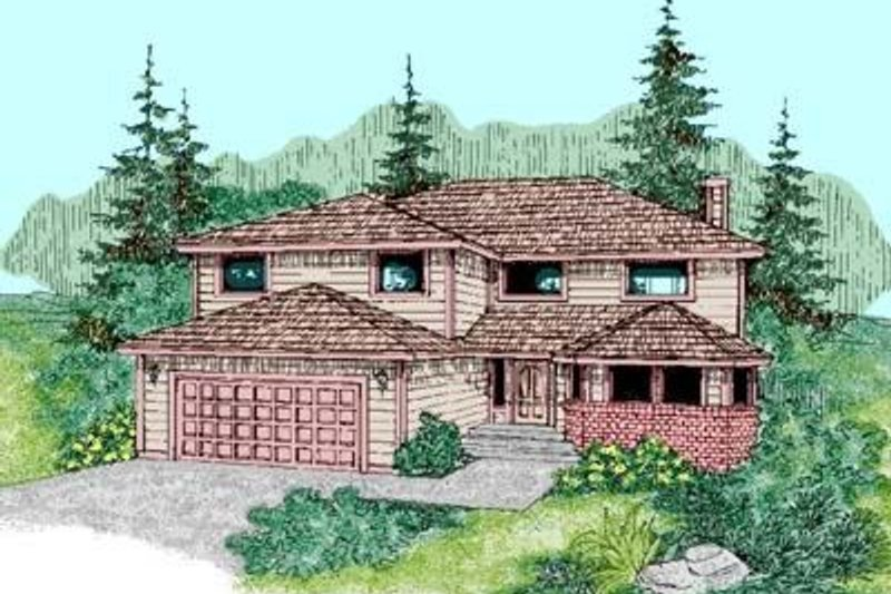 Traditional Exterior - Front Elevation Plan #60-425 - Houseplans.com