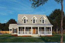 Home Plan - Country Exterior - Front Elevation Plan #17-2741