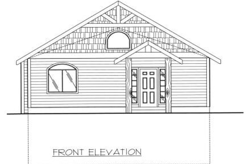 Traditional Exterior - Other Elevation Plan #117-557 - Houseplans.com