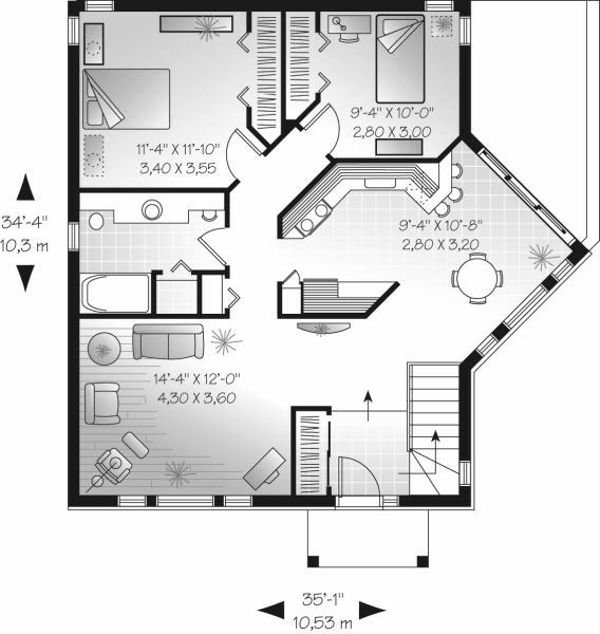 Traditional Floor Plan - Main Floor Plan Plan #23-696