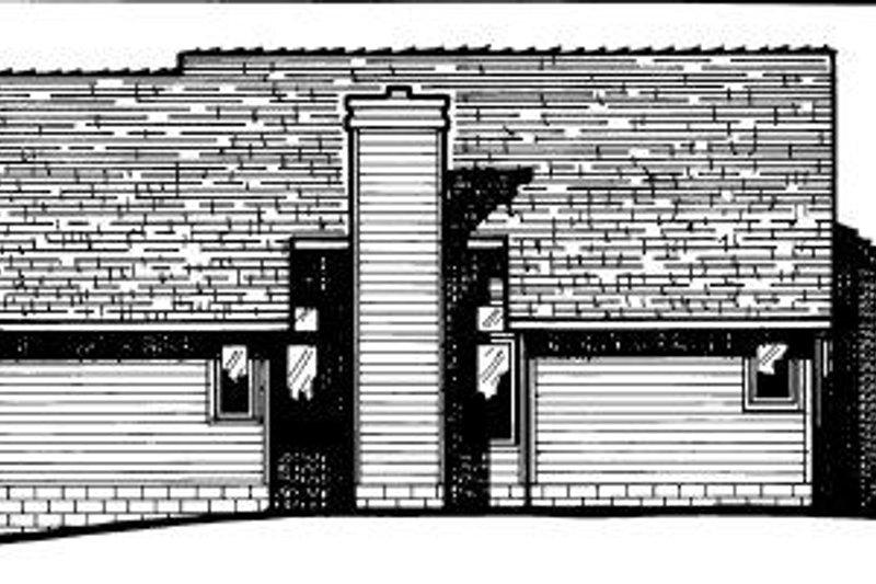 Traditional Exterior - Rear Elevation Plan #20-149 - Houseplans.com