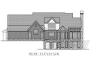 European Style House Plan - 5 Beds 5.5 Baths 7092 Sq/Ft Plan #458-14 Exterior - Rear Elevation