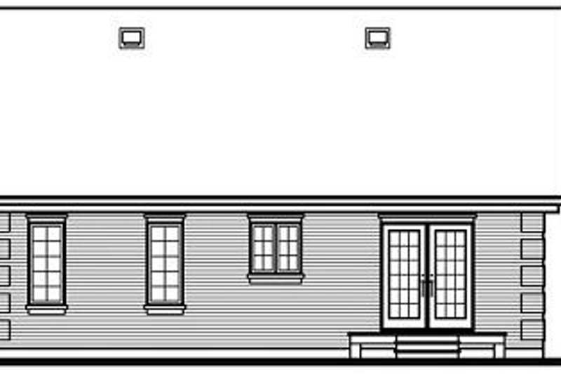 European Exterior - Rear Elevation Plan #23-694 - Houseplans.com