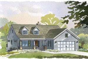 Traditional style, ranch design, elevation