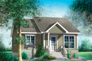 Cottage Exterior - Front Elevation Plan #25-4447