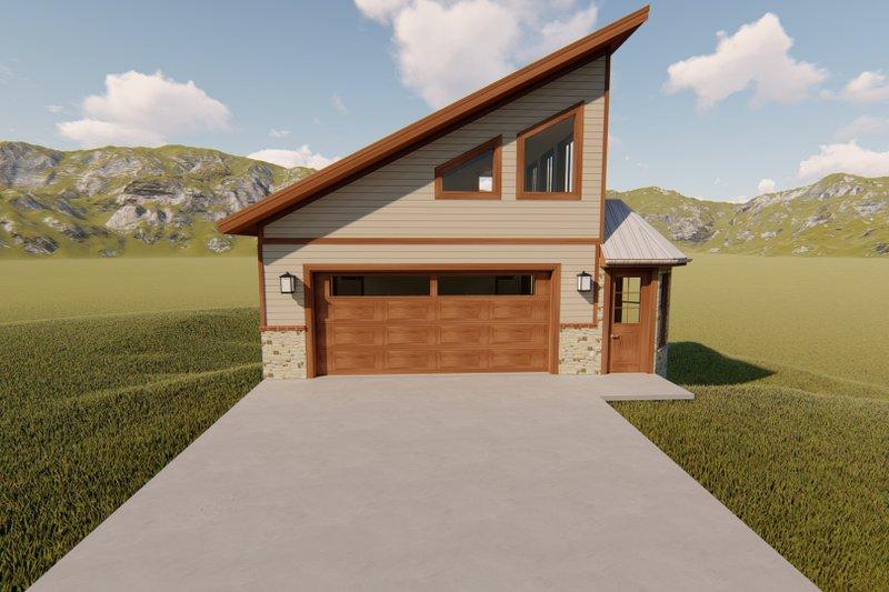 Dream House Plan - Modern Exterior - Front Elevation Plan #1060-72