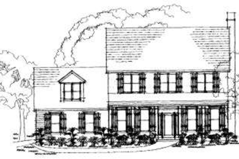 Southern Exterior - Front Elevation Plan #325-151