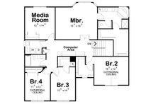 Traditional Floor Plan - Upper Floor Plan Plan #20-2180
