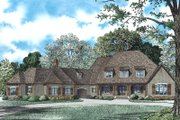 European Style House Plan - 6 Beds 5 Baths 6363 Sq/Ft Plan #17-2505 Exterior - Front Elevation