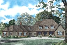Dream House Plan - European Exterior - Front Elevation Plan #17-2505