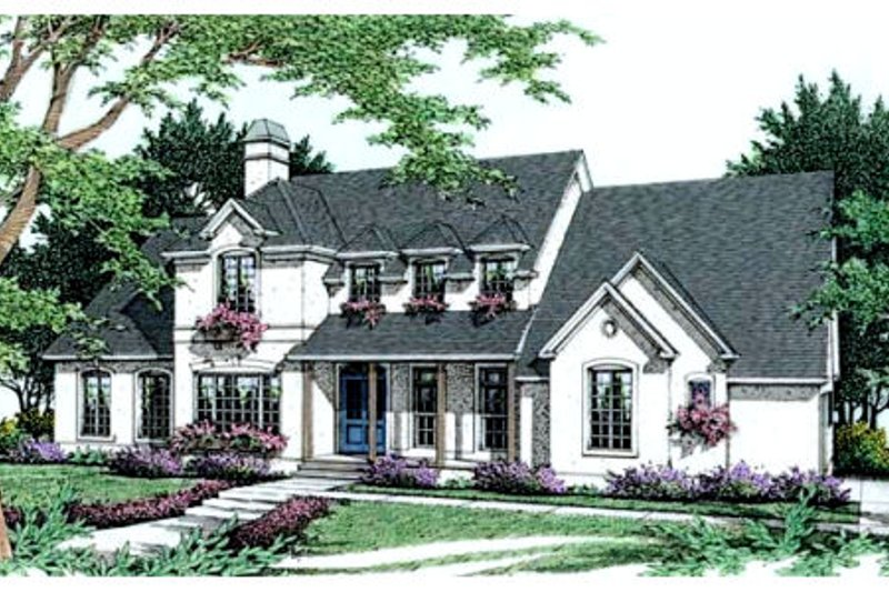 European Exterior - Front Elevation Plan #406-180 - Houseplans.com