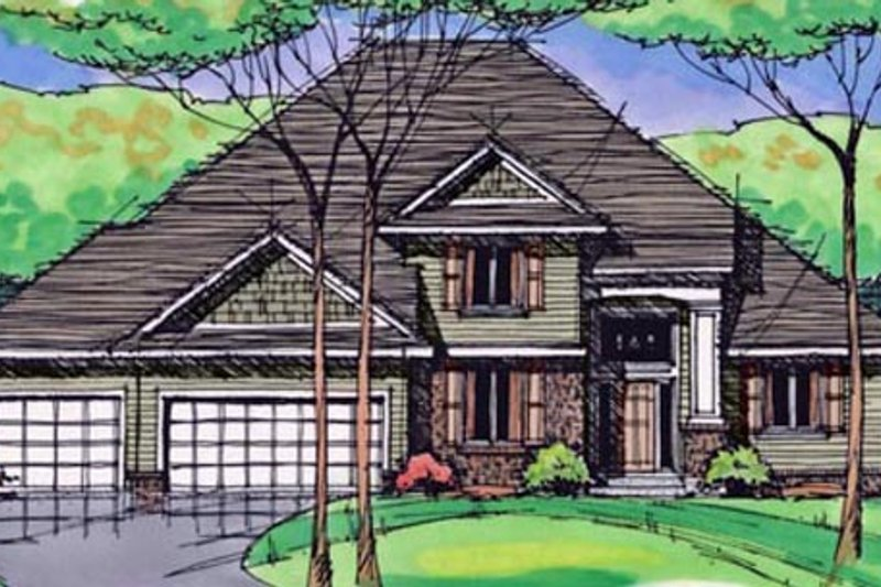 Traditional Exterior - Front Elevation Plan #51-406