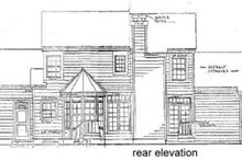 House Plan Design - Country Exterior - Rear Elevation Plan #3-165