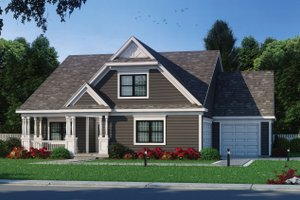 House Blueprint - Craftsman Exterior - Front Elevation Plan #20-2459