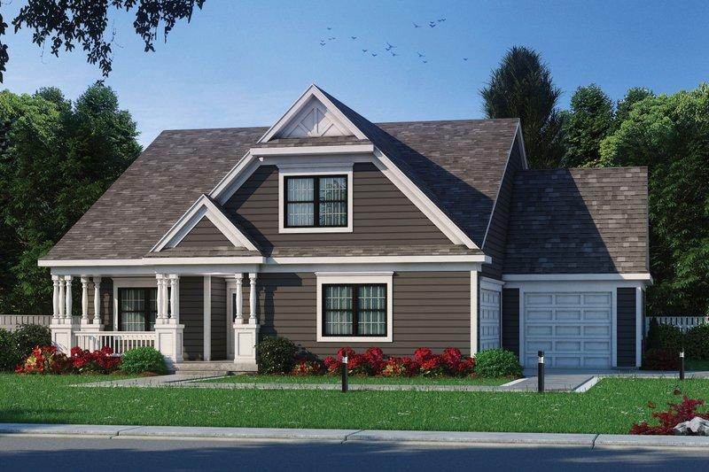 House Plan Design - Craftsman Exterior - Front Elevation Plan #20-2459