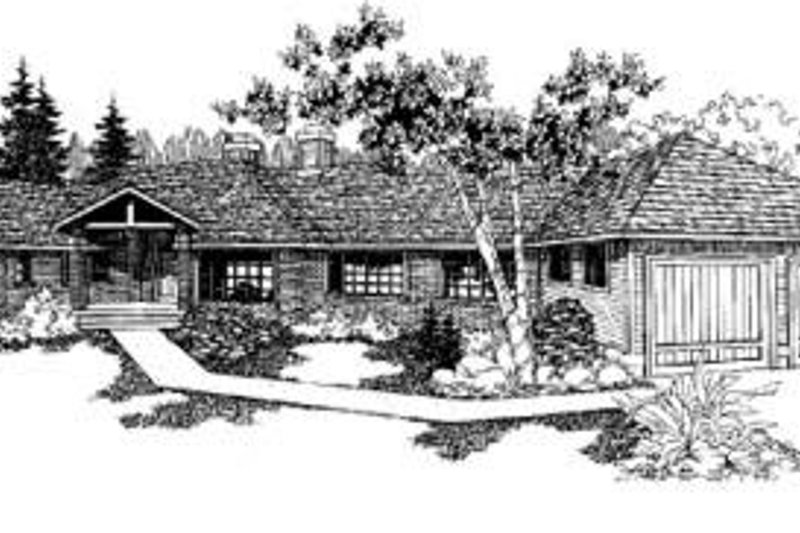 Traditional Exterior - Front Elevation Plan #60-304 - Houseplans.com