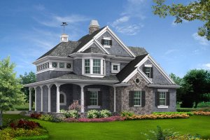Country Exterior - Front Elevation Plan #132-190
