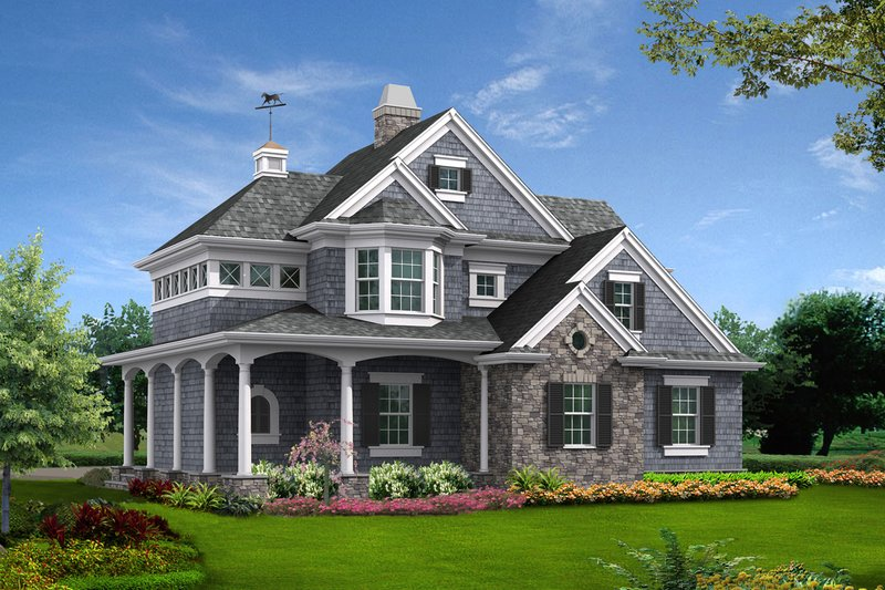 Dream House Plan - Country Exterior - Front Elevation Plan #132-190