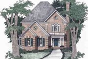 Traditional Style House Plan - 3 Beds 2.5 Baths 2077 Sq/Ft Plan #129-128 Exterior - Front Elevation