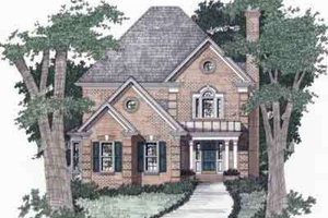 Traditional Exterior - Front Elevation Plan #129-128
