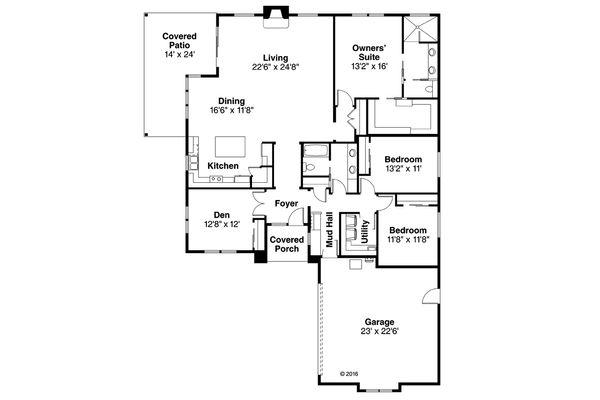 House Plan Design - Prairie Floor Plan - Main Floor Plan #124-1065