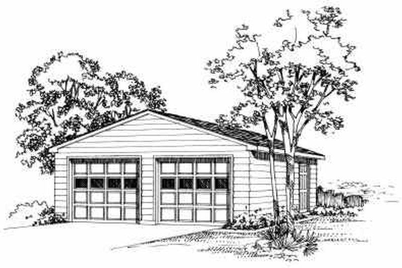 House Blueprint - Traditional Exterior - Front Elevation Plan #72-246