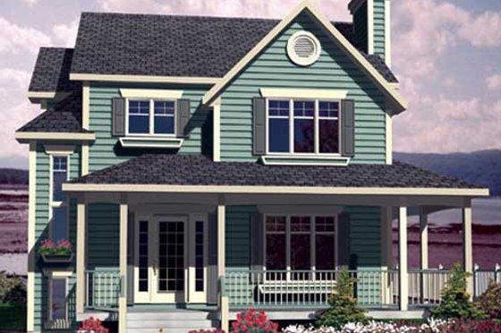 Farmhouse Exterior - Front Elevation Plan #138-292